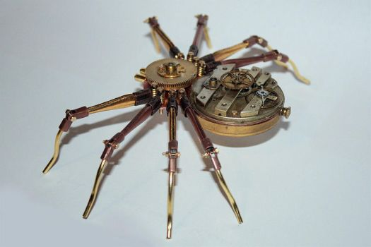 Steampunk spider 2 by hardwidge