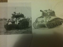 Sherman tanks by amazoness-king