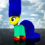 MLP Fluffy - Marge Simpson by VeryOldBrony