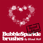 BubbleSparkle Heart Brushes by cloud-no9