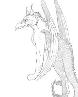 Dracogryph Lineart by K-Pepper
