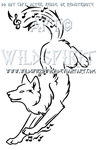 Frolicking Music Wolf Design by WildSpiritWolf