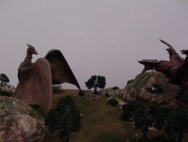 My First Ever Diorama: Rodan vs Gyaos. by Kaiju-King42