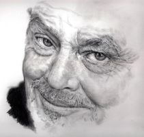 WIP: Pencil portrait of Jack Nicolson by chaseroflight