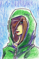 Random Green Hoodie Girl by Barrin84