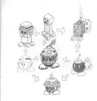 Small Enemies Hexafusion: Met, Bob-omb, Creeper by Collecter128