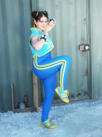 Street Fighter - Chun Li Alpha cosplay by nermallion