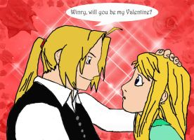 Winry, will you be my Valentine? by Kamahontas