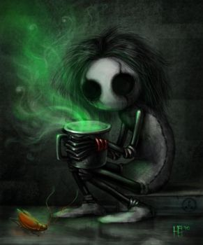 Creepy and the Green Tea by Carhven