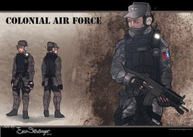 Colonial Air Force - Commission by EvenSkarangerArt