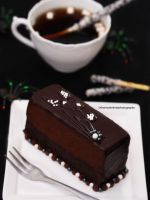A Slice of Dark Chocolate Fudge Cake by theresahelmer