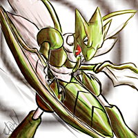 Scyther by Magickie