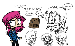 Traditore (human name- 'Trady') Human Disguise.She by InvaderTraditore