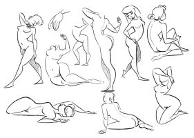 Gesture Drawing Exercise by Martenitza
