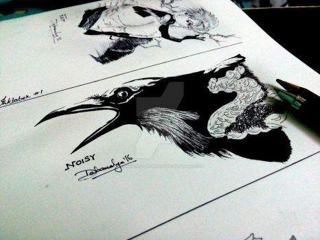 theRaven - InkTober 2016 Prompt 02 by Remus-and-Romulus