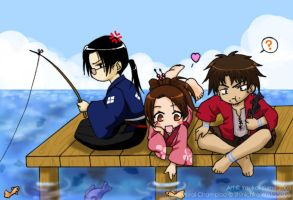 Chibi Champloo - Gone Fishing by YoukaiYume