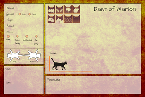 Dawn of Warriors ::: Application Form by sparkeythehamster