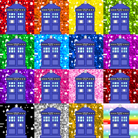 Glittery TARDIS Downloadable Icon Pack by Chrisily