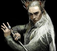 Thranduil Sketch by xAtrax