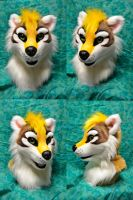 Brazz badger head by temperance
