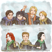 First Year at Hogwarts by naomi-makes-art73