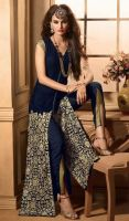 Pant Style Suit in Royal Blue Color by NINAFORD