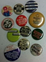 Preachy Buttons of Yesteryear by kvarra13