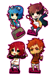 Scott Pilgrim keychains by animegirl000