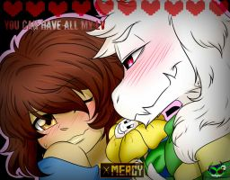 Undertale: Frisk X Asriel by daredevil48