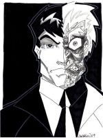 Two-Face by misfitcorner