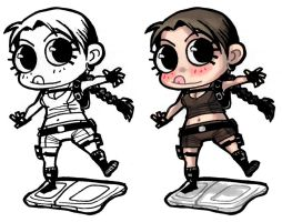 Chibi - Lara Croft + Wiifit by ElectroCereal