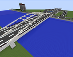 Minecraft Arch Bridge by JelmerNL