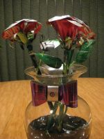 Recycled Pop Can Red Roses2 by Christine-Eige