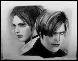 Degeneration:Leon and Claire by ChIkIeChIke