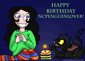 Happy birthday ncpenguinlover by TheCrazyOneOfTheGang