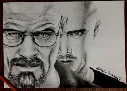 Walter White and Jesse Pinkmark by Aknebaz