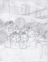 30 min drawing a wedding party by 11rnolson