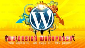 We Design Wordpress - 1st Logo by C0NFUZZLE