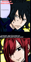 Gray and Erza by Roxamine13