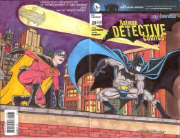 Detective Comics Final sketch cover (Available) by Bright-Raven
