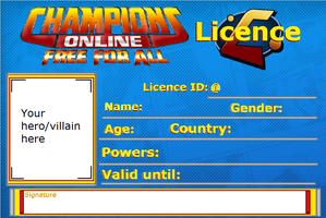 Champions Online Licence by AtlasTheSahuagin