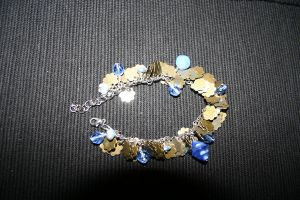 Blue brass bracelet by Tarawyn