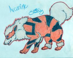 Arcanine woof by Meralaz