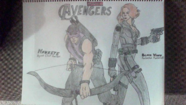 Hawkeye and Black Widow by SweetL3w