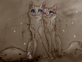 Cloudtail And Brightheart by Ao-No-Lupus