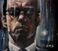 Agent Smith ACEO by sullen-skrewt