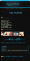 Ocean Blue Journal Skin by ladyzineb