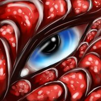 Dragon eye speed-paint by Deathtail-The-DraCon