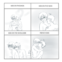 Sexy Kiss Meme Tony x Kris by RandomNishi