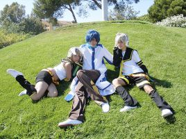 Vocaloid: Len, Rin y Kaito by YagamiSayu